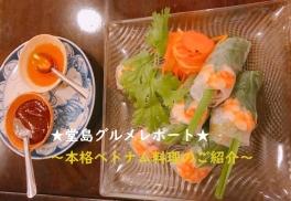 【SYNTH(シンス)堂島ブログ】堂島グルメレポートVol.38「ベトナム料理:Restaurant RIVE GAUCHE」